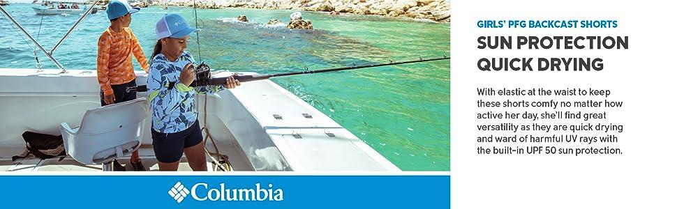 Columbia Girl's PFG Backcast Summer Fishing Shorts