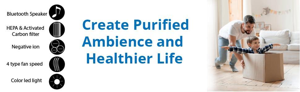 ,germ guardian air purifier home bluetooth air purifier, WBM air purifier large room,