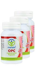 manako OPC vegetarische Kapseln, 3 x 110 Stück, Dose a 20,9 g (3 x 110 Kapseln)