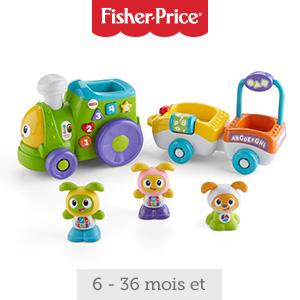 Bébé ne se lassera pas de ramper et d'apprendre avec ce train motorisé et ses amis BeBo et ses amis