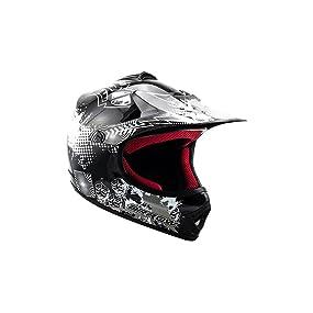 "Armor /· AKC-49 Set /""Green/"" 51-52cm /· Casco Moto-Cross /· Scooter Racing motocicleta Quad Enduro NINOS Off-Road /· DOT certificado /· Click-n-Secure/™ Clip /· Bolsa de transporte /· XS green"