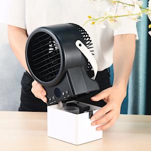 Mini Aire Acondicionado, Humidificador, Purificador, Ventilador en Mesa con Tanque de Agua, 7 Colores de Luz, Cómodo para Dormitorio, Oficina: Amazon.es: Hogar
