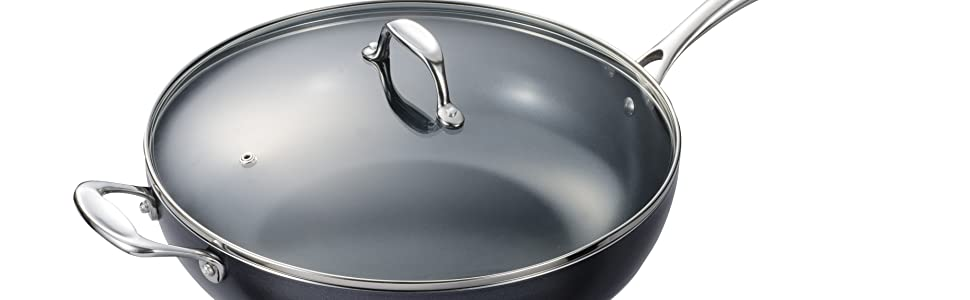 """Kyocera 12.5"""" Wok with Lid"""