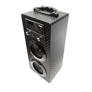 Mini Torre Portátil Belson PBSL-14 + Micrófono con Cable + Mando a Distancia: Amazon.es: Electrónica
