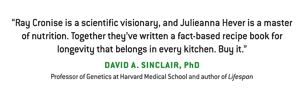 The Healthspan Solution, quote from David A. Sinclair, PhD.