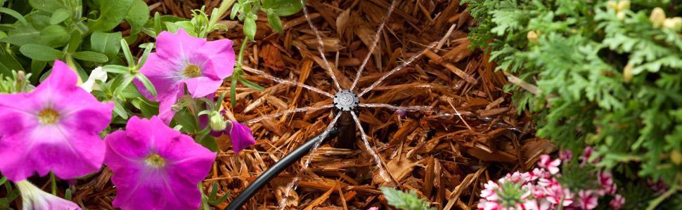 Adhere To Fly 10 St/ück Garten Bew/ässerung Einstellbare Dripper Und Sprinkler Kopf Micro Misting Flow Drip Kopf Passend F/ür 1//4 Zoll Schlauch