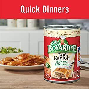 Choose Chef Boyardee for kid friendly meals for picky eaters and easy weeknight meals for families