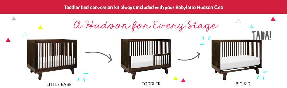 Amazon Com Babyletto Hudson 3 In 1 Convertible Crib With