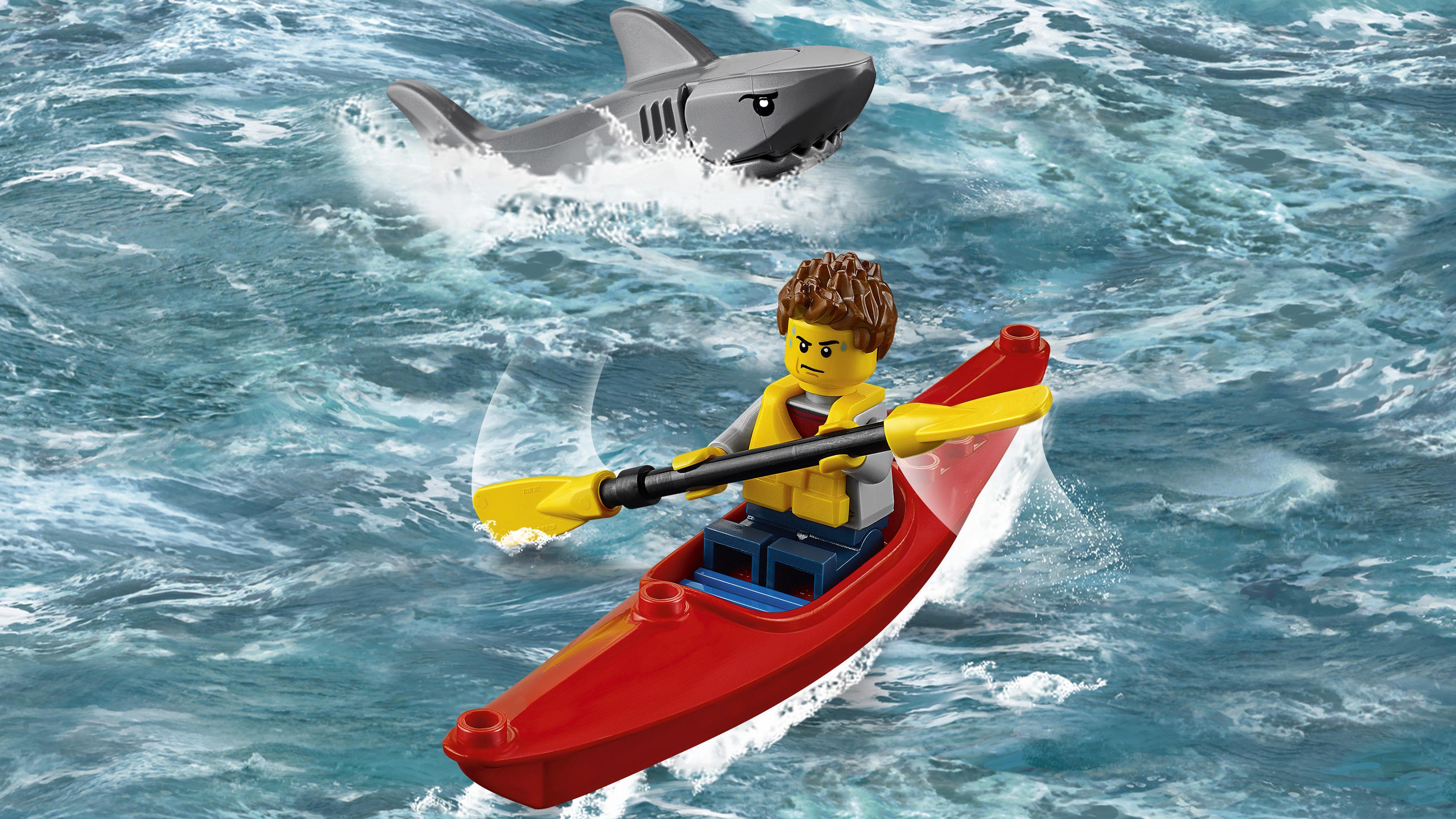 Elicottero Squalo : Lego city coast guard elicottero della guardia