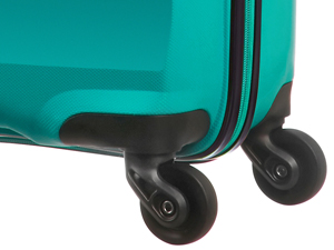 Bon Air; american tourister; suitcase; turquoise; wheels
