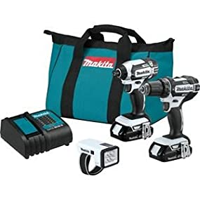flashlight;light;compact;combo;kit;set;3;piece;drill;driver;impact;battery;charger;bag