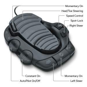 power steering foot pedal spot-lock hands free