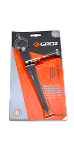 Nickel Plated GROZ 16-inch Automotive Tire Spoon Lever #33180 Hook /& Taper