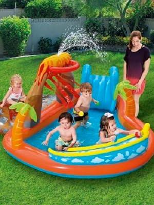 Bestway 53069 - Piscina Hinchable Infantil Lava Lagoon 265x265x104 ...