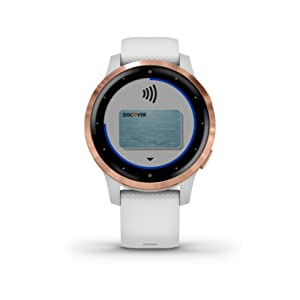 Garmin vívoactive 4S, Smaller-Sized GPS Smartwatch, Features Music, Body Energy Monitoring, Animated Workouts, Pulse Ox Sensors and More, Rose Gold ...