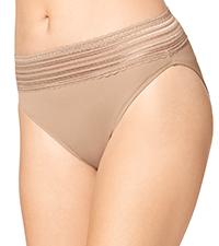 5109J, warner's hi cut panty, panty with lace, women's panties