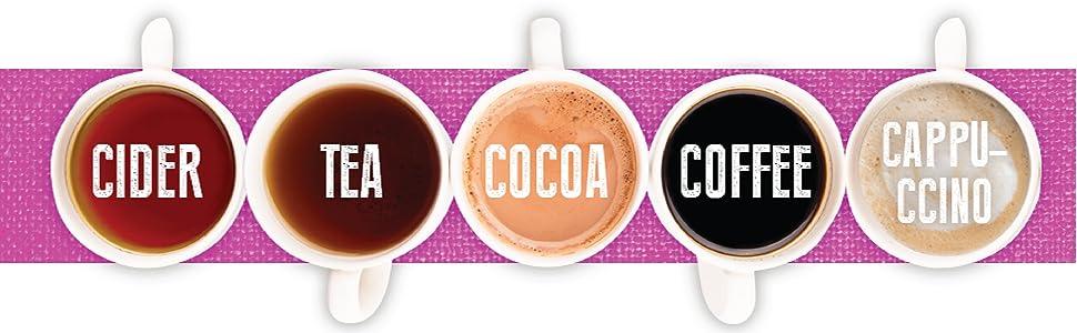K Cup Cider Tea Cocoa Coffee Cappuccino