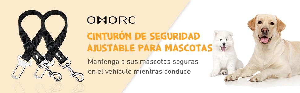 OMORC 2 Cinturón de Seguridad de Coche para Perros, Arnés del ...