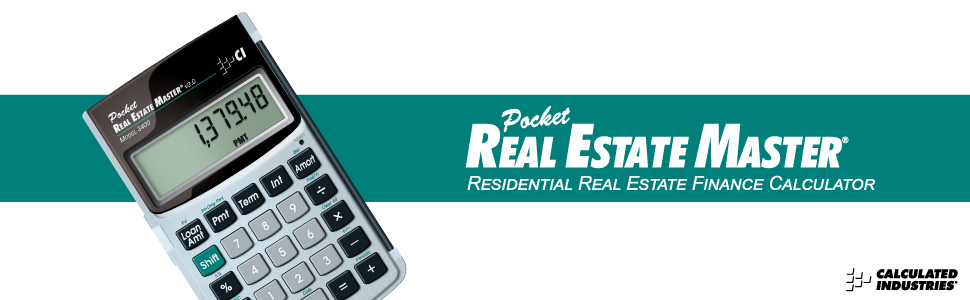 Amazon com : Calculated Industries 3400 Pocket Real Estate