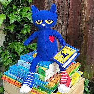 Pete the cat;blue cat;picture book;stuffed cat;blue plush;cat plush;color;cupcakes;bedtime;pete book