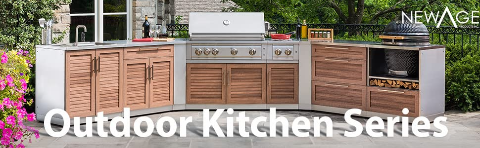 Newage Products 65087 Outdoor Kitchen Cabinet Set In Stainless Steel 5 Piece Outdoor Kitchen Set Classic Amazon Ca Patio Lawn Garden