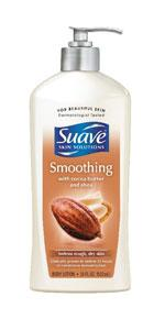 Suave Skin Solutions Smoothing Body Lotion with Cocoa & Shea Butters, 18 oz