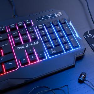 Clavier Gaming Réactif et Rétroéclairé