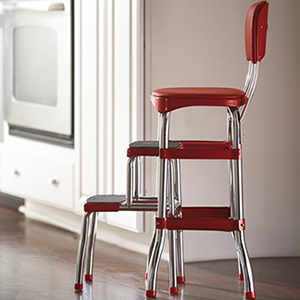 Pleasant Cosco 11120Red1E Retro Counter Chair Step Stool Sliding Red Ncnpc Chair Design For Home Ncnpcorg