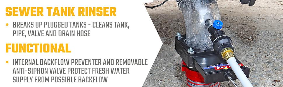 Amazon Com Valterra Flush King 45 Degree Reverse Flush Valve Attachment For Rv Camper Trailer Automotive