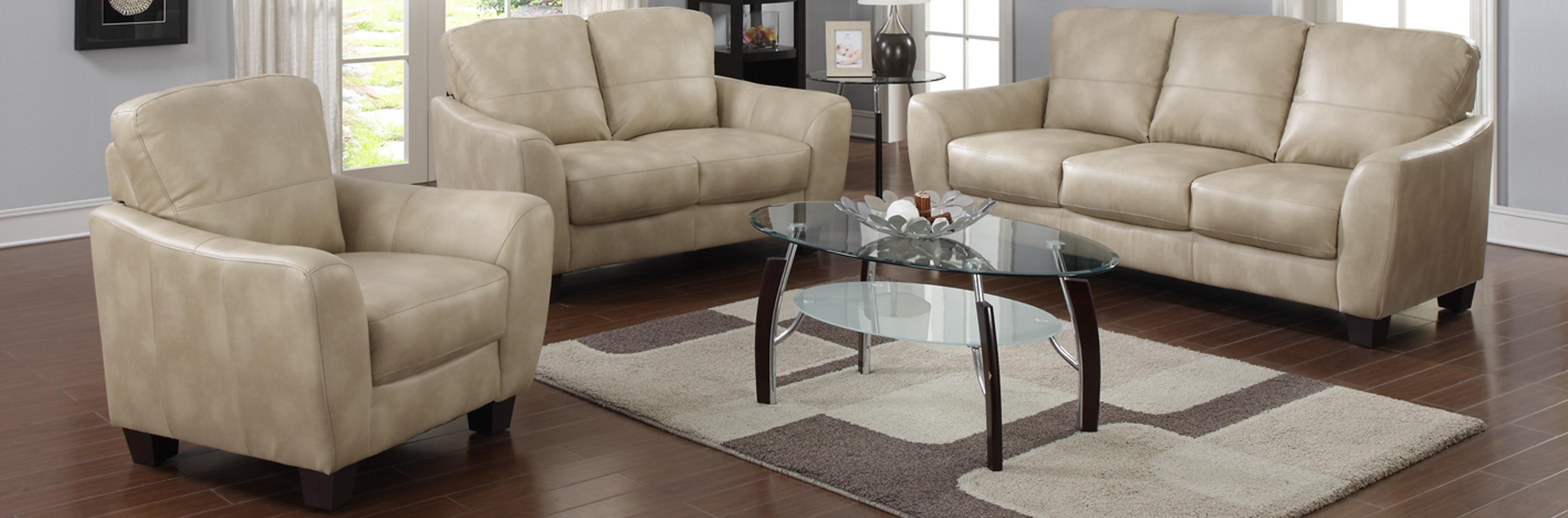 Amazon Com Milan Franklin Taupe Club Bonded Leather Sofa