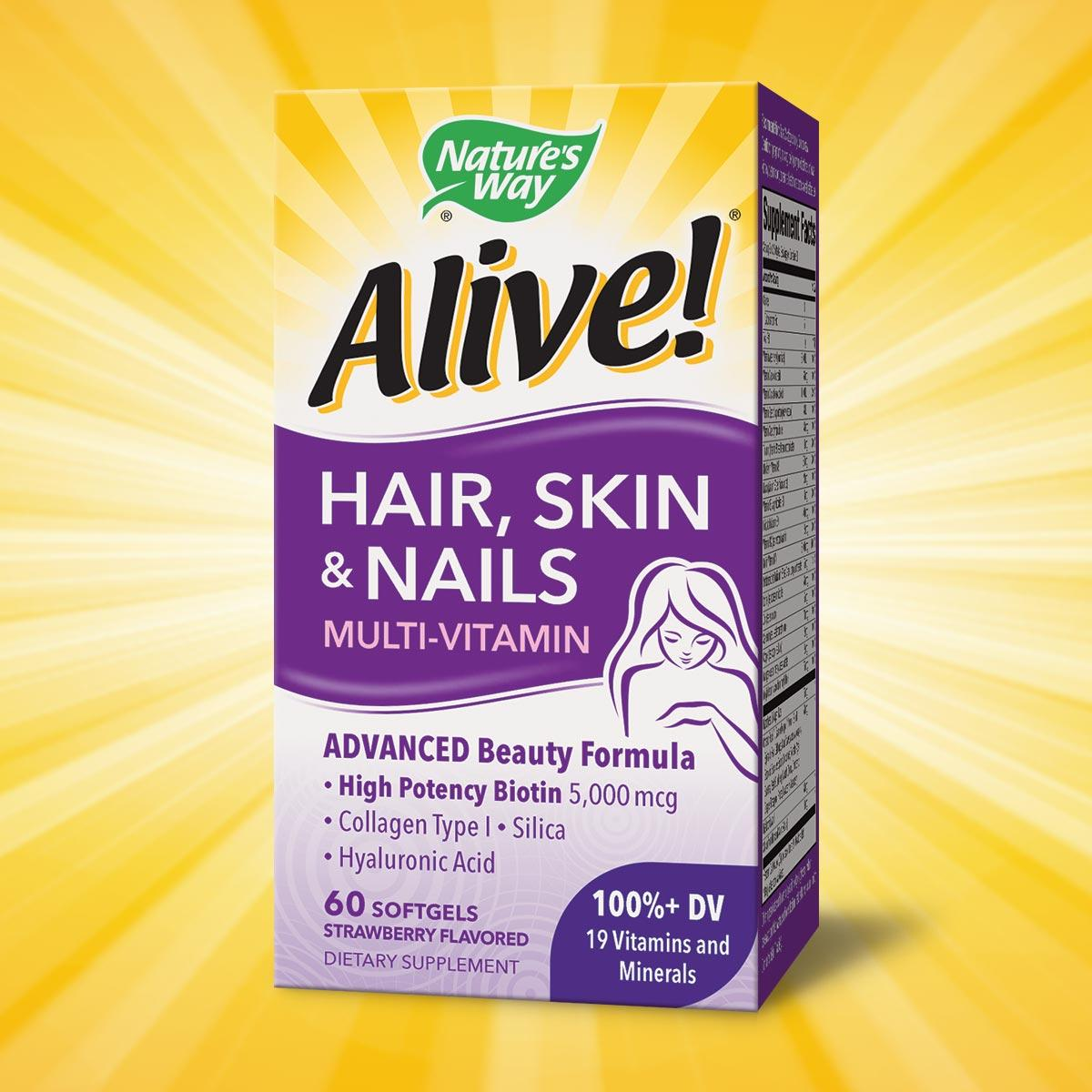 Alive Nature S Way Hair Skin And Nails Multivitamin Reviews