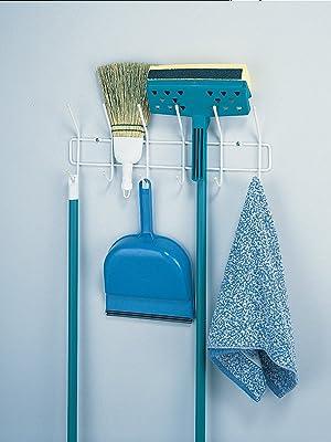 Utility Hook, Mop Hook, Broom Hook, Broom Holder, Mop Holder, Cleaning
