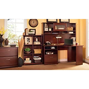 Bush Furniture, Cabot Collection, office furniture, home office, desk, hutch, furniture, Bush Indu