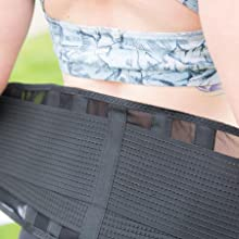 ComfyMed Breathable Mesh Lower Back Brace for Men and Women Strong Support
