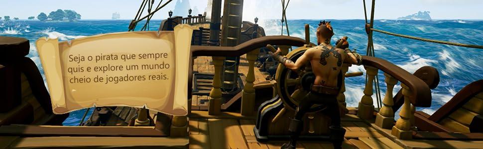 mundo com jogadores reais, desafios piratas