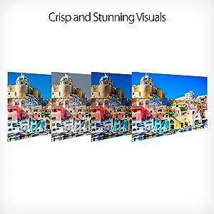 Crisp and Stunning Visuals