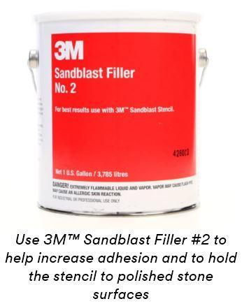 3M Sandblast Stencil - Hand-Cut Splice Free 510 Green, 12-3/4 in x 10 yd, 1  per case