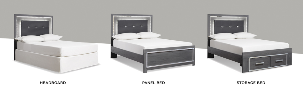 headboard only panel sleigh storage platform twin full queen king california cal size youth children