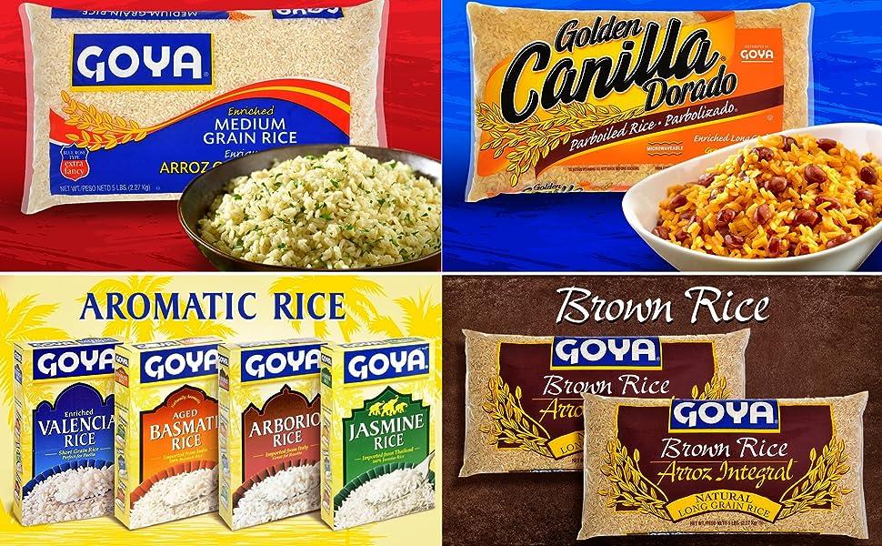 Goya Medium Grain Rice Parboiled Golden Rice Jasmine Basmati Rice Brown Rice