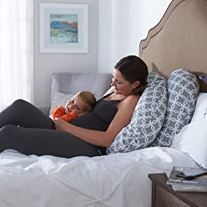 Amazon Com Boppy Slipcovered Pregnancy Body Pillow
