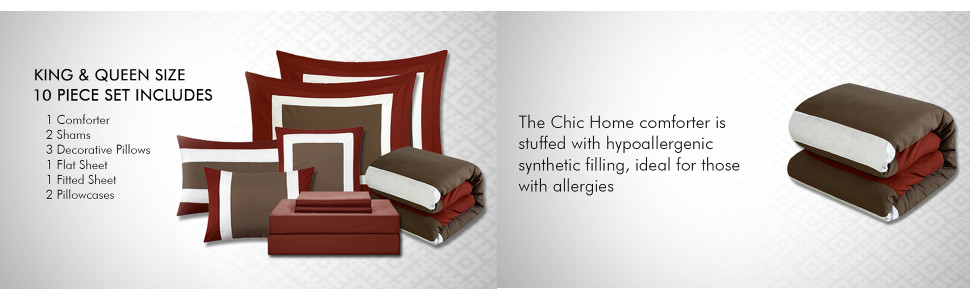 Chic Home comforter hypoallergenic synthetic filling