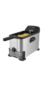 Placa vitrocerámica · Olla de vapor · Cocedor de huevos · Grill con control digital · Freidora · Sartén para pizza