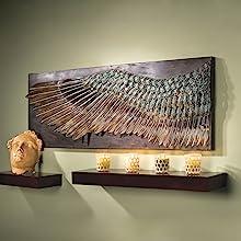 Design Toscano Plumes d'Aile d'Icare Sculpture Murale, 91 cm, articles de ferronnerie