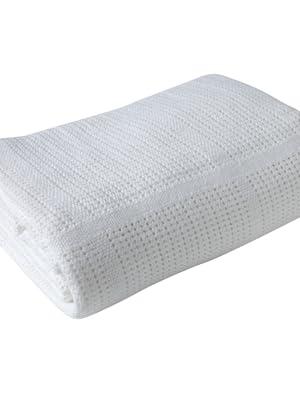 cellular blanket; white cellular; baby blanket; white baby blanket; receiving blanket; baby blanket