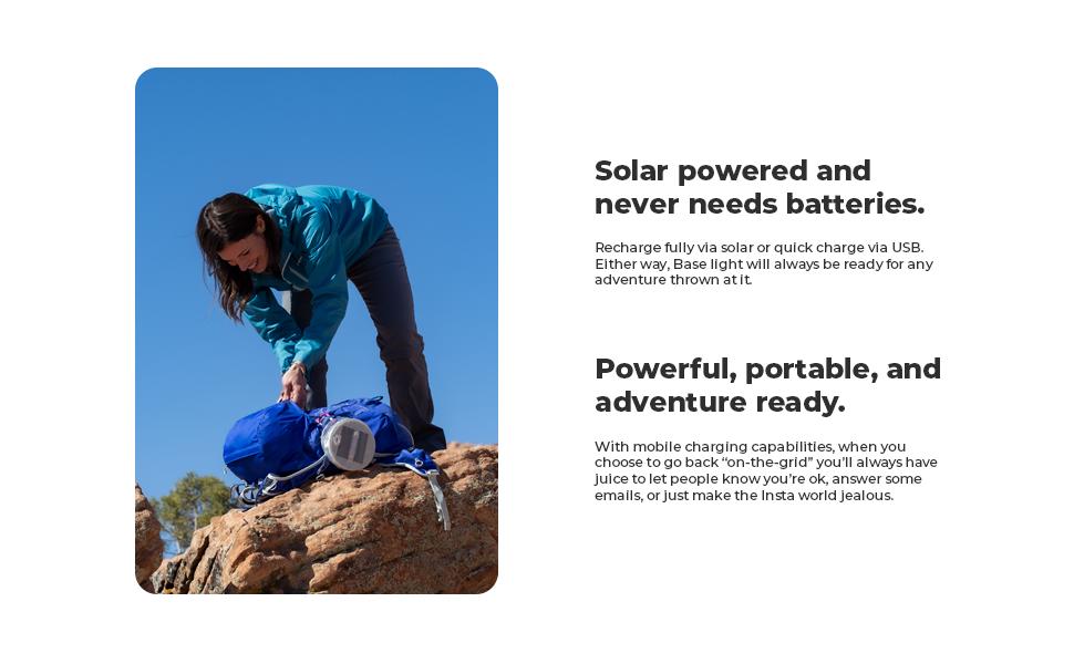 Luci Base: Solar Inflatable Light + Power Bank