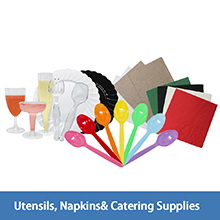 Karat utensils,napkins and catering supplies,serving fork.serving tong,champagne coupe,wine cup