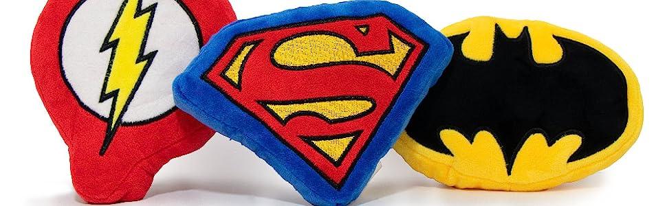 Batman Flash Superman Batman Icons Dog Toys Plush Non-Abrasive Chew Fetch Throw Play