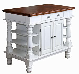 terrific antique white kitchen island   Home Styles 5094-94 Americana Kitchen Island, Antique ...