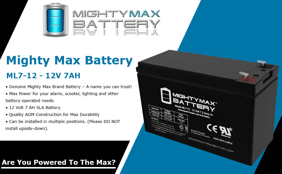 Mighty Max Battery 12V 7Ah Battery Replacement for Powerware NetUPS SE 1500RM 6 Pack Brand Product