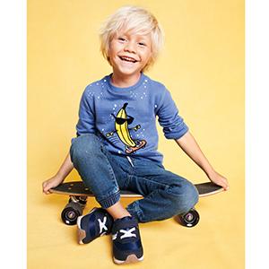 Boy wearing Sneakers